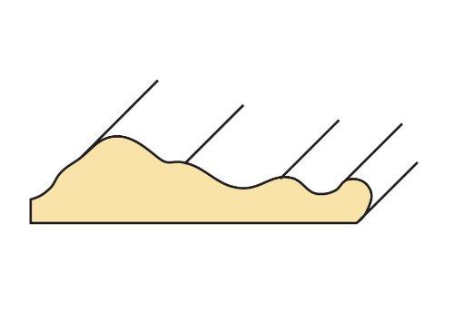 Profilleiste Zierleiste Abschlussleiste Bastelleiste aus geschliffenem Kiefer-Massivholz 2400 x 10 x 30 mm