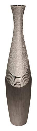 GILDE Dreamlight Collection Vase - aus Keramik in grau Silber H 78 cm D 19 cm