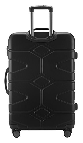 HAUPTSTADTKOFFER - X-Kölln - 2er Koffer-Set Trolley-Set Rollkoffer Reisekoffer, TSA, (S & L), Schwarz matt - 6