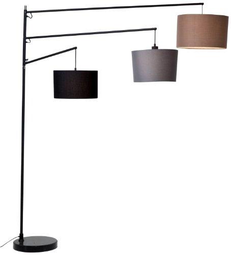 Kare Stehlampe Lemming Tree, 33171, moderne Design Standleuchte mit 3 Lampenschirmen,...