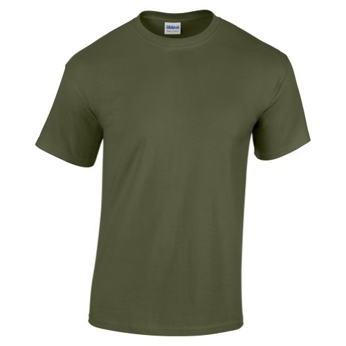 Gildan - Maglietta 100% Cotone - Uomo (M) (Verde (Militari T-shirt)