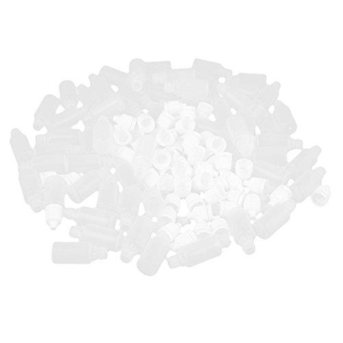 sourcing map 60 Stück Apothekerflasche Pipettenflasche Inklusive 10ml Dropperflasche Weiß