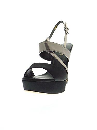 LUCIANO BARACHINI 6246 D Sandalo Donna Nero/platino