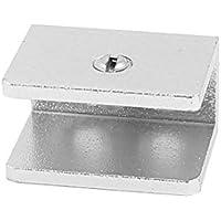Einstellbare Schraube kariert 6,7-11mm Dicke Glas Clip Spanner Silber Ton de