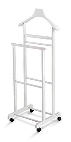 Domopak Living Indossatore Servomuto, Legno, Bianco, 36 x 47 x 104 cm