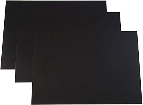 Dataplus 20324 Polypropylen 330 x 450 x 0,8 mm Bastelbögen (3 Stück), schwarz