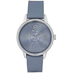 Uhr Rosé Damen rwro07Quarz (Batterie) Stahl Quandrante hellblau Armband Leder