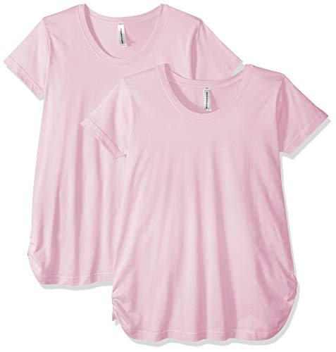 AquaGuard Damen Scoopneck Maternity 2 Pack T-Shirt, Rose, Mittel -