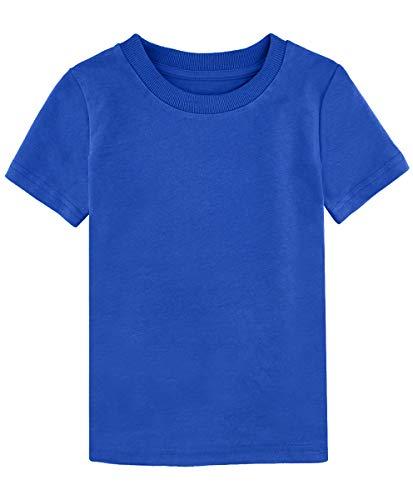 MOMBEBE COSLAND T-Shirt Garçons Bleu Enfant Tee Shirt (Bleu, 5 Ans)