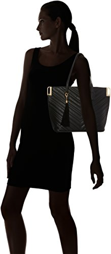 Miss Selfridge - Quilt, Borse Tote Donna Nero (Black)