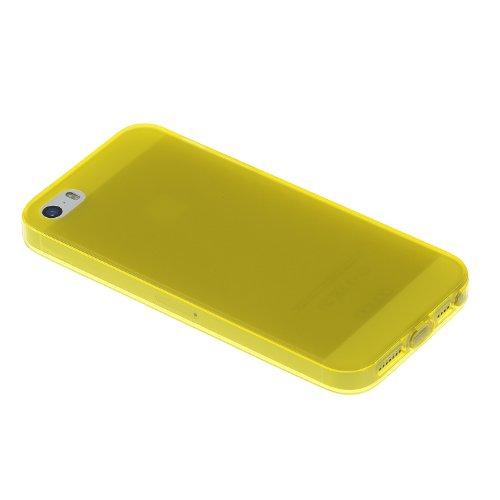 "doupi PerfectFit Schutzhülle mit Staubstöpseln für iPhone 6 6S ( 4.7"" ) Staubschutz eingebaut Matt Clear Design TPU Schutz Hülle Silikon Schale Bumper Case Schutzhülle Cover, pink Gelb"