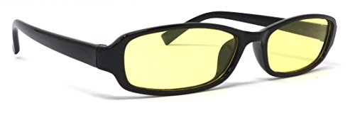 Night Vision Nacht-Brille Kontrast-Brille Nachtfahr-Brille Anti-Bend Auto Nachtsicht-Brille Anti Glare Gelb Gaming-Brille