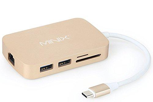 MINIX NEO C, USB-C Multiport Adapter with HDMI – Gold (Kompatibel mit Apple MacBook) (Intel-internet-karte)