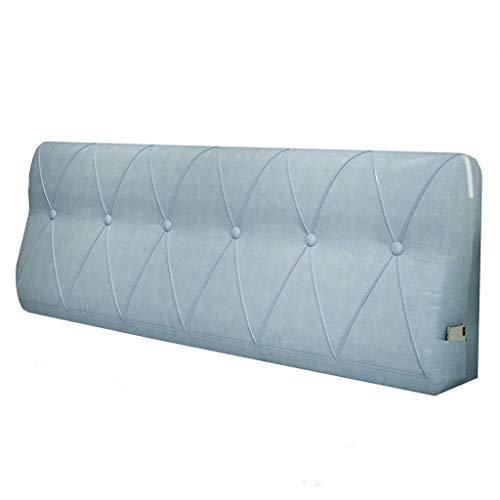 LPD-Stützbet Keilförmiges Bettkissen Bedside Rückenkissen Bettbezug Rückenkissen PP Baumwolle Füllung Waschbar (Color : B, Size : 200x15x60cm)