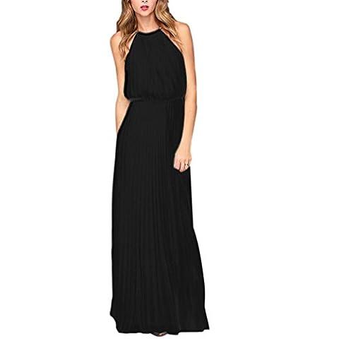 iMELY Sexy Robe Longue Femmes Été sans Manches Jupe Longue
