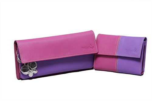 butterflies women's wallet (pink and purple) (bns c016) Butterflies Women's Wallet (Pink and Purple) (BNS C016) 31HcaMTbAbL