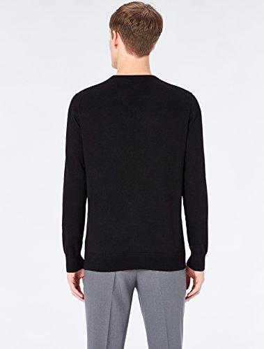 MERAKI Baumwoll-Pullover Herren mit Rundhals Schwarz (Black)