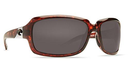 Costa Del Mar New IB 10Isabela Schildkröte rechteckig Sonnenbrille für Damen, Grau, IB10OGP
