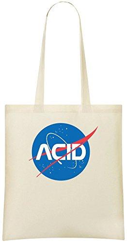 ACID Logo - ACID Logo Custom Printed Grocery Tote Bag - 100% Soft Cotton - Eco-Friendly & Stylish Handbag For Everyday Use - Custom Shoulder Bags -