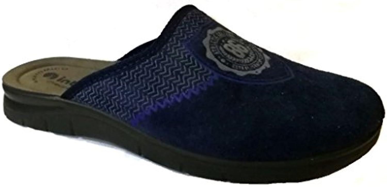 INBLU - Zapatillas de estar por casa de tela para hombre Azul turquesa 42 -