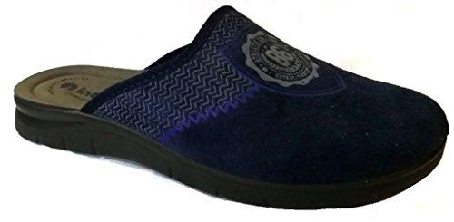 Inblu pantofole ciabatte da uomo invernali mod. bg-22 blu nuovo (42)