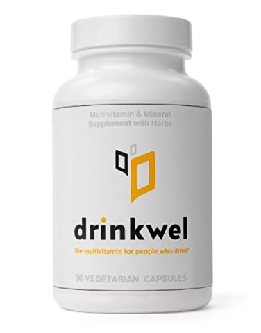 Drinkwel -The Food Supplement for People Who Drink (with b-Vitamins, N-acetyl Cysteine, & Tumeric)