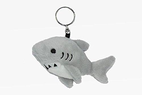 Schlüsselanhänger Hai, aus Plüsch, Tier Tiere, Haifisch Fische