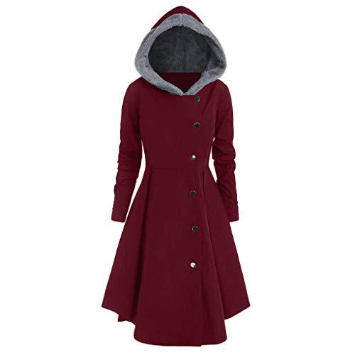 Luckycat Moda Fiesta Mujer Parka Abrigo Chaqueta Manga Larga Tallas Grandes Suelta con Capucha Invierno cálido
