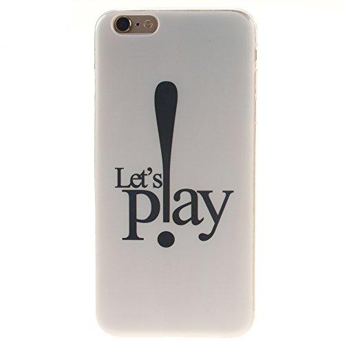 "Apple iphone 6 plus/6s plus5.5"" hülle,MCHSHOP Ultra Slim Skin Gel Schlank TPU Case Schutzhülle Silikon Silicone Schutzhülle Case Back Cover für Apple iphone 6 plus/6s plus 5.5"" - 1 Kostenlose Stylus P Let's Play"