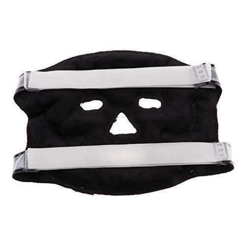 sharprepublic Wiederverwendbare Gesichtsaugenmaske Gel Wärme Kältepackung Für Geschwollene Augen Schwellung Relief - Schwarz