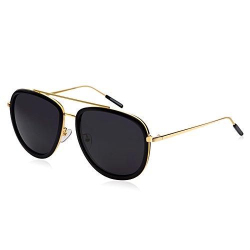 Komny Sonnenbrille Frau tide prominente Persönlichkeit runden Gesicht anti uv-Brille und polarisierten Sonnenbrillen Hawksbill frame [Rosa Linsen]