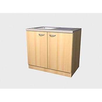 pharao24 sp lschrank fabrizio in wei breite 80 cm k che haushalt. Black Bedroom Furniture Sets. Home Design Ideas