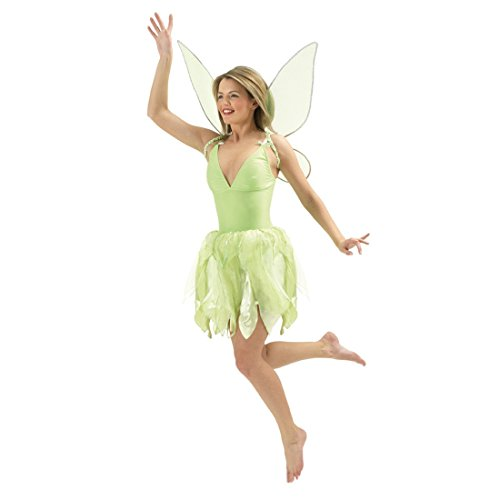Fee Kostüm Disney (Fee Kleid Tinkerbell Tinker Bell Kostüm grün L 42/44 Elfe Märchenkostüm Disney Feenkostüm Glöckchen)