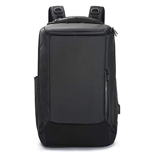 Business-Rucksack, USB-Multifunktions-Outdoor-wasserdichter Reiserucksack USB-Ladeanschluss für Frauen Männer, passend für 15,6-Zoll-Laptop (schwarz)
