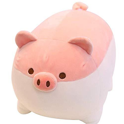 AMOYER 50CM Cute Pig Plüschtier Anime Schwein Plüsch ZUKS Kissen Puppe Karikatur-Schwein Nettes Schwein Stofftier (Pink)