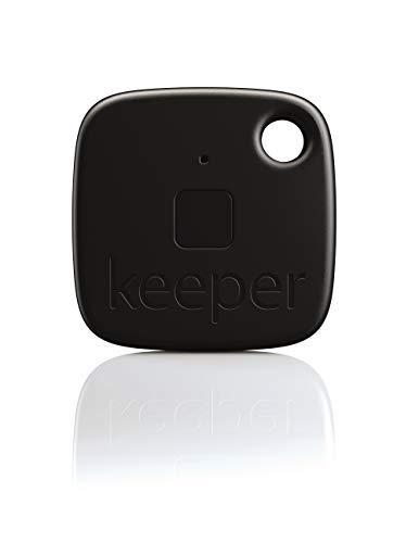 Gigaset keeper Schlüsselfinder (mit Bluetooth-Beacon und Signalton, LED-Licht zum finden des Schlüssels) schwarz -