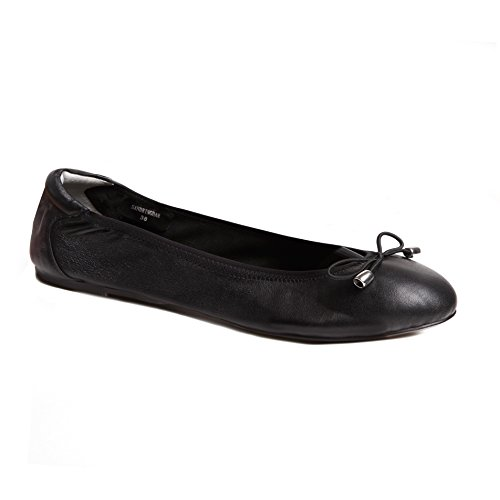 27fce0f980f Cocorose Foldable Shoes - Sandringham Ladies Leather Ballet Pumps - Black -  Size 6