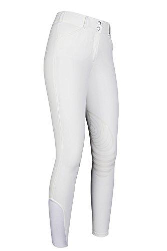 HKM Reithose -Elite Hunter- Silikon-Kniebesatz, Weiß, 38