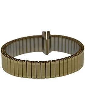 Rowi Fletch Zugband 12mm Uhrenarmband Vergoldet Flex Armband Uhr Band 392828