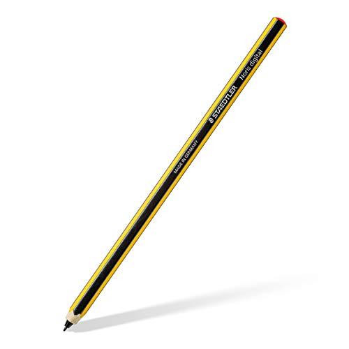 Staedtler 180 22-1 Stylus Noris digital forma hexagonal (tecnología EMR, dieseño atractivo de rayas Noris, superficie ergonómica suave, punta fina de 0,7mm) amarillo-negro
