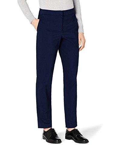 MERAKI Gerade geschnittene Hose Damen, Blau (Navy), 36 (Herstellergröße: Small)