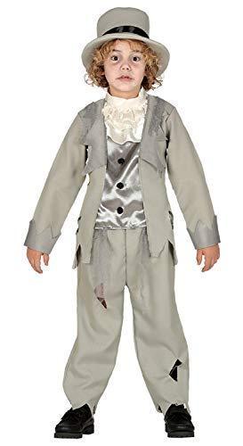 Fancy Me Jungen Teens Leichnam Geisterhaft Ghost Bräutigam Gespenstisch Gruselig Halloween Kostüm Kleid Outfit 3-12 Jahre - 3-4 Years