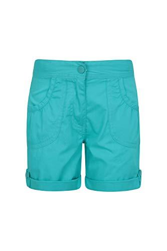 Mountain Warehouse Shore Shorts für Mädchen - Kindershorts aus 100% Baumwolle, Kurze Atmungsaktive Hose, Strand Shorts - Lässige Shorts für Den Sommer & Urlaube Mint 140 (9-10 Jahre)