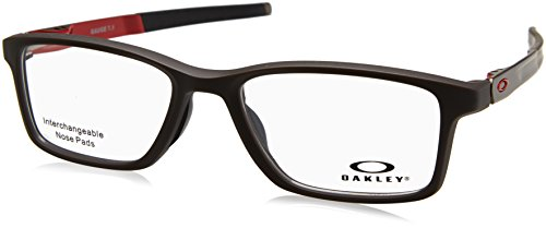 Oakley 8112, Monturas de Gafas para Hombre, Negro (Satin Flint), 54