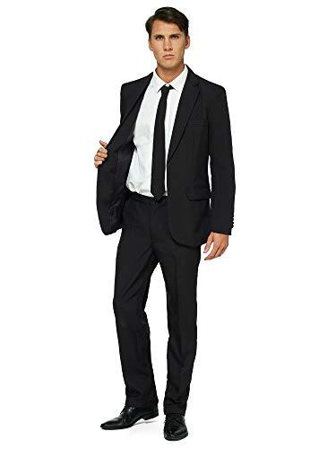 OFFSTREAM Einfarbige Anzüge für Männer - Mit Jackett, Hose und Krawatte - L
