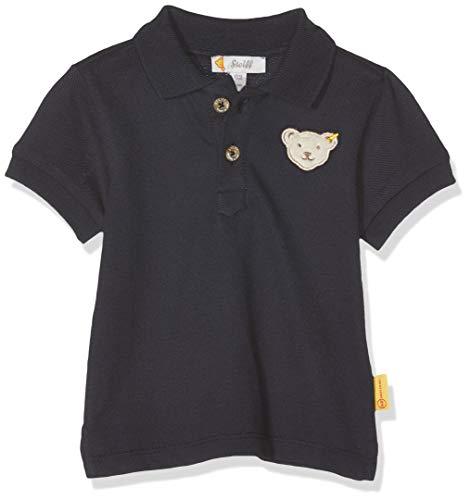 Steiff Baby-Jungen Poloshirt, Blau (Black Iris 3032), 80
