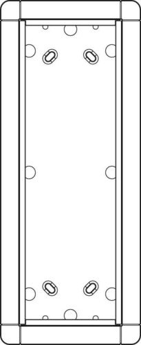 Ritto 1883370 Surface-Mounted Unit for Portier Intercom 3-Way White