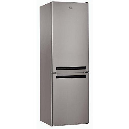 Whirlpool BSNF 8121 OX Libera installazione 222L 97L A+ Acciaio inossidabile frigorifero con congelatore