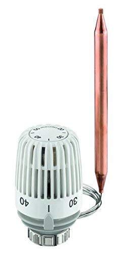 Heimeier Thermostat-Kopf mit Wärmeleitsockel und Spiralfeder, 20 -50 Grad 2m 6402-00.500 - Kapillarrohr-thermostat