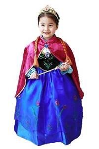 Frozen Vestido Niñas Disfraz ANNA ELSA (110 (3-4 años))
